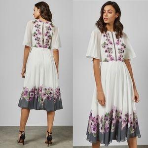 TED BAKER Floral Begoni Midi Dress